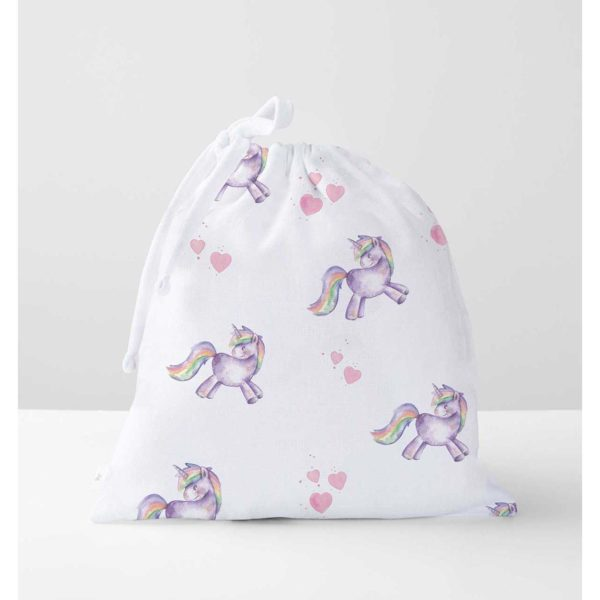 Hearty Unicorn Muslin Bag - UNIBAG1200